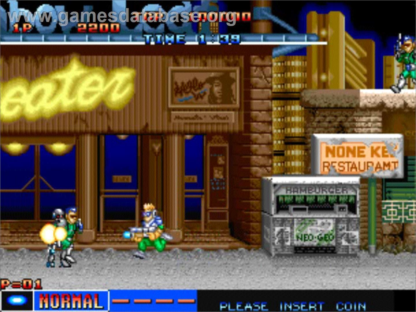 In game image of Cyber-Lip on the SNK Neo-Geo AES.
