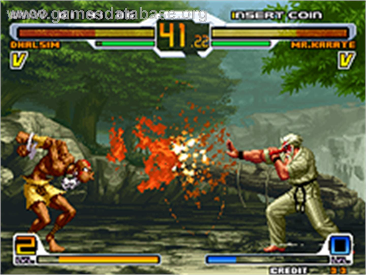 In game image of SNK vs. Capcom: SVC Chaos on the SNK Neo-Geo AES.