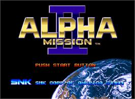 Title screen of Alpha Mission II on the SNK Neo-Geo AES.