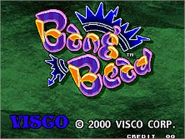 Title screen of Bang Bead on the SNK Neo-Geo AES.