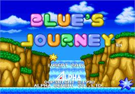 Title screen of Blue's Journey on the SNK Neo-Geo AES.
