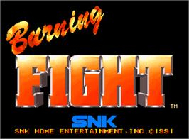 Title screen of Burning Fight on the SNK Neo-Geo AES.