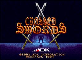 Title screen of Crossed Swords on the SNK Neo-Geo AES.