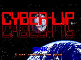 Title screen of Cyber-Lip on the SNK Neo-Geo AES.