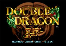 Title screen of Double Dragon on the SNK Neo-Geo AES.