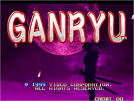Title screen of Ganryu on the SNK Neo-Geo AES.