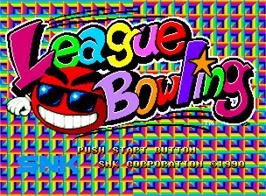 Title screen of League Bowling on the SNK Neo-Geo AES.