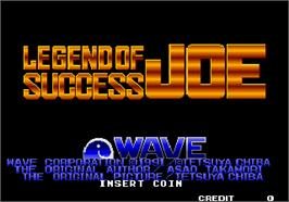 Title screen of Legend of Success Joe on the SNK Neo-Geo AES.