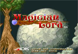 Title screen of Magician Lord on the SNK Neo-Geo AES.