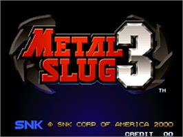 Title screen of Metal Slug 3 on the SNK Neo-Geo AES.