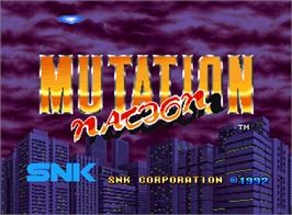 Title screen of Mutation Nation on the SNK Neo-Geo AES.