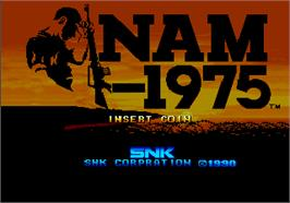 Title screen of NAM-1975 on the SNK Neo-Geo AES.