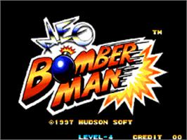 Title screen of Neo Bomberman on the SNK Neo-Geo AES.
