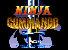 Title screen of Ninja Commando on the SNK Neo-Geo AES.