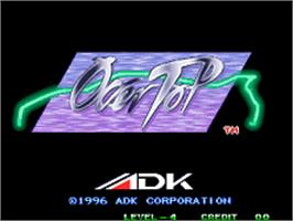 Title screen of Over Top on the SNK Neo-Geo AES.