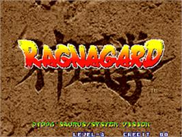 Title screen of Ragnagard on the SNK Neo-Geo AES.