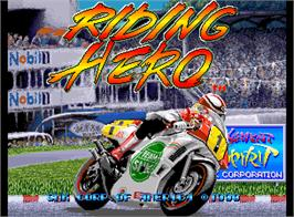 Title screen of Riding Hero on the SNK Neo-Geo AES.