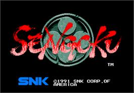 Title screen of Sengoku on the SNK Neo-Geo AES.
