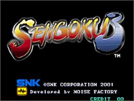 Title screen of Sengoku 3 on the SNK Neo-Geo AES.