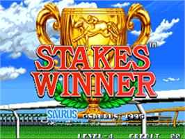 Title screen of Stakes Winner on the SNK Neo-Geo AES.
