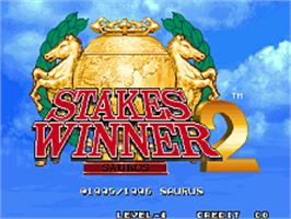 Title screen of Stakes Winner 2 on the SNK Neo-Geo AES.