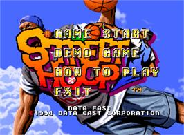 Title screen of Street Hoop on the SNK Neo-Geo AES.