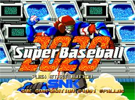 Title screen of Super Baseball 2020 on the SNK Neo-Geo AES.