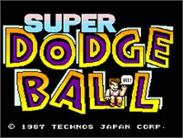 Title screen of Super Dodge Ball on the SNK Neo-Geo AES.