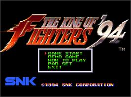 Title screen of The King of Fighters '94 on the SNK Neo-Geo AES.