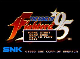 Title screen of The King of Fighters '95 on the SNK Neo-Geo AES.