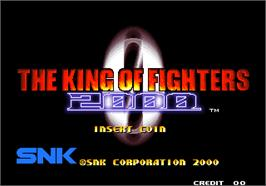 Title screen of The King of Fighters 2000 on the SNK Neo-Geo AES.