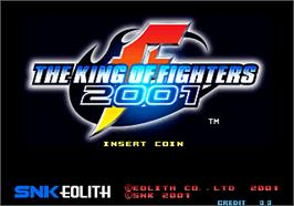 Title screen of The King of Fighters 2001 on the SNK Neo-Geo AES.