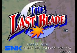 Title screen of The Last Blade on the SNK Neo-Geo AES.