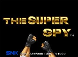 Title screen of The Super Spy on the SNK Neo-Geo AES.