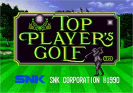 Title screen of Top Player's Golf on the SNK Neo-Geo AES.