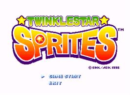 Title screen of Twinkle Star Sprites on the SNK Neo-Geo AES.
