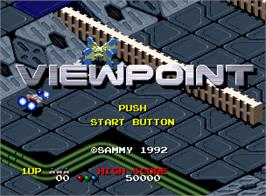 Title screen of Viewpoint on the SNK Neo-Geo AES.