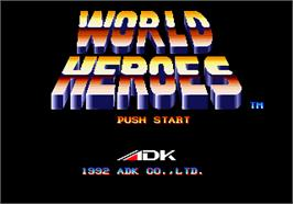 Title screen of World Heroes on the SNK Neo-Geo AES.