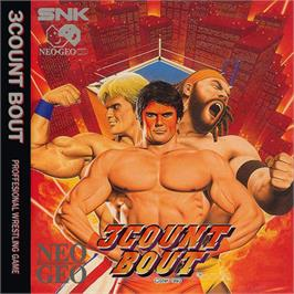 Box cover for 3 Count Bout on the SNK Neo-Geo CD.