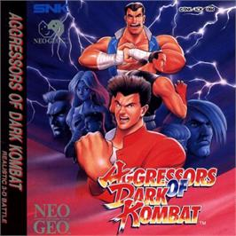 Box cover for Aggressors of Dark Kombat on the SNK Neo-Geo CD.