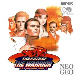 Box cover for Art of Fighting 3: The Path of The Warrior on the SNK Neo-Geo CD.