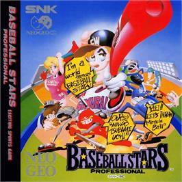 Box cover for Baseball Stars Professional on the SNK Neo-Geo CD.