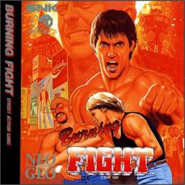 Box cover for Burning Fight on the SNK Neo-Geo CD.
