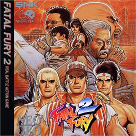 Box cover for Fatal Fury 2 on the SNK Neo-Geo CD.