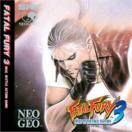 Box cover for Fatal Fury 3: Road to the Final Victory! on the SNK Neo-Geo CD.