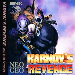 Box cover for Karnov's Revenge on the SNK Neo-Geo CD.