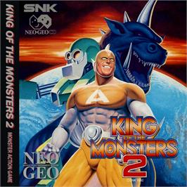 Box cover for King of the Monsters 2: The Next Thing on the SNK Neo-Geo CD.