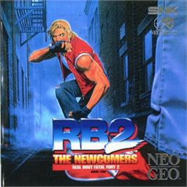 Box cover for Real Bout Fatal Fury 2: The Newcomers on the SNK Neo-Geo CD.