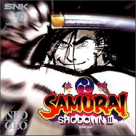 Box cover for Samurai Shodown III: Blades of Blood on the SNK Neo-Geo CD.