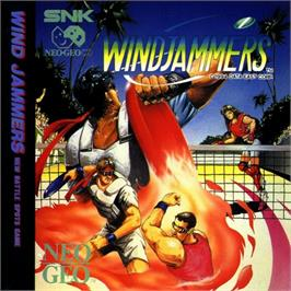 Box cover for Windjammers on the SNK Neo-Geo CD.